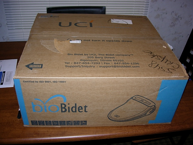 Another Picture of the Bio Bidet BB-800 Box